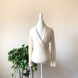 Ann Taylor Sweater Front Wrap 100% Cashmere